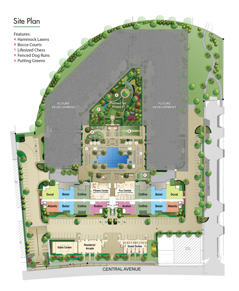 Central site plan