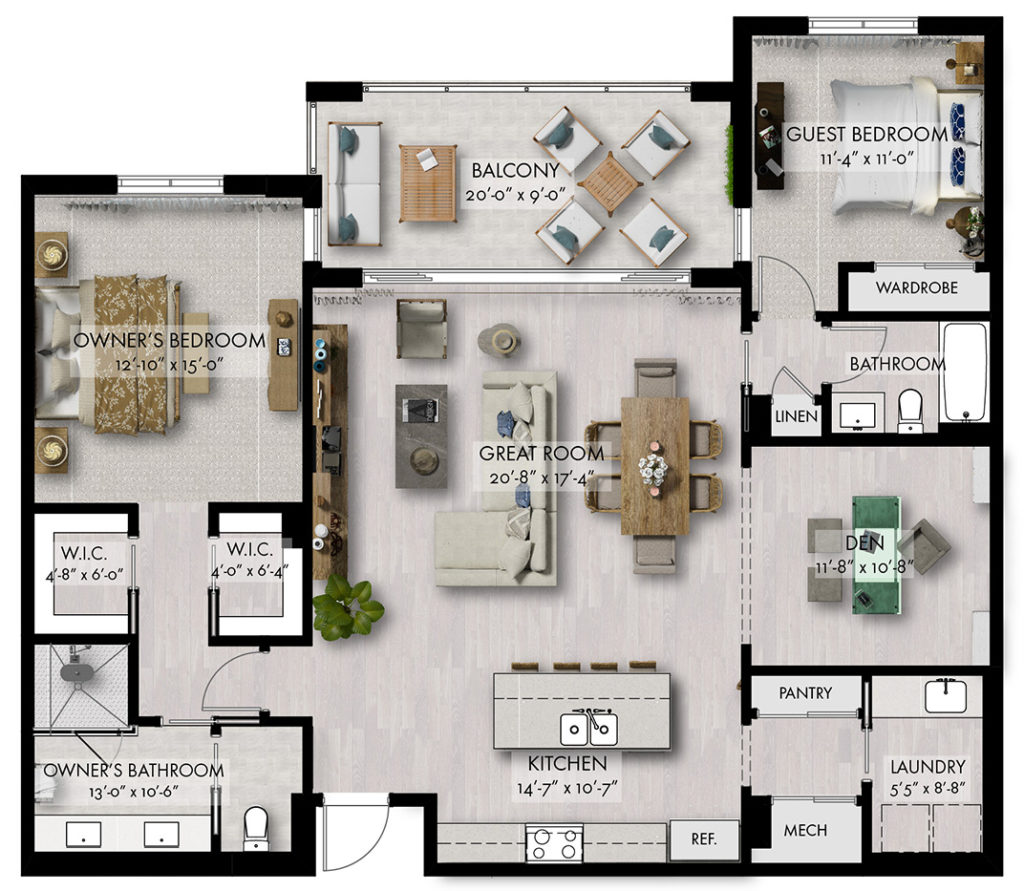 Belair Illustrated Floor plan