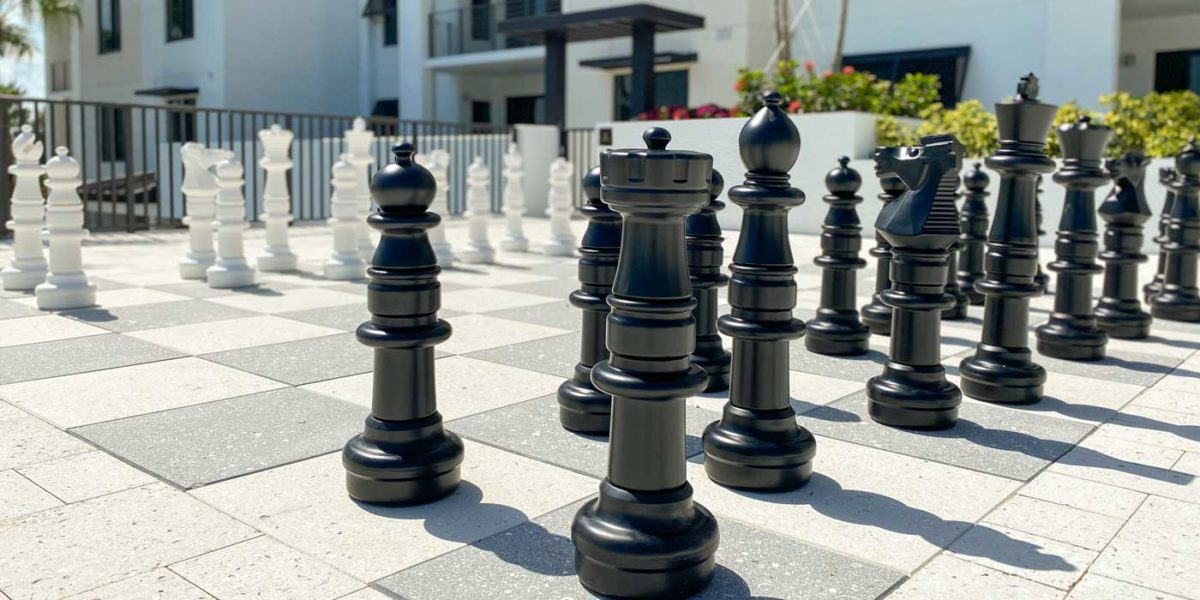 Eleven Eleven Central Life-Sized Chess