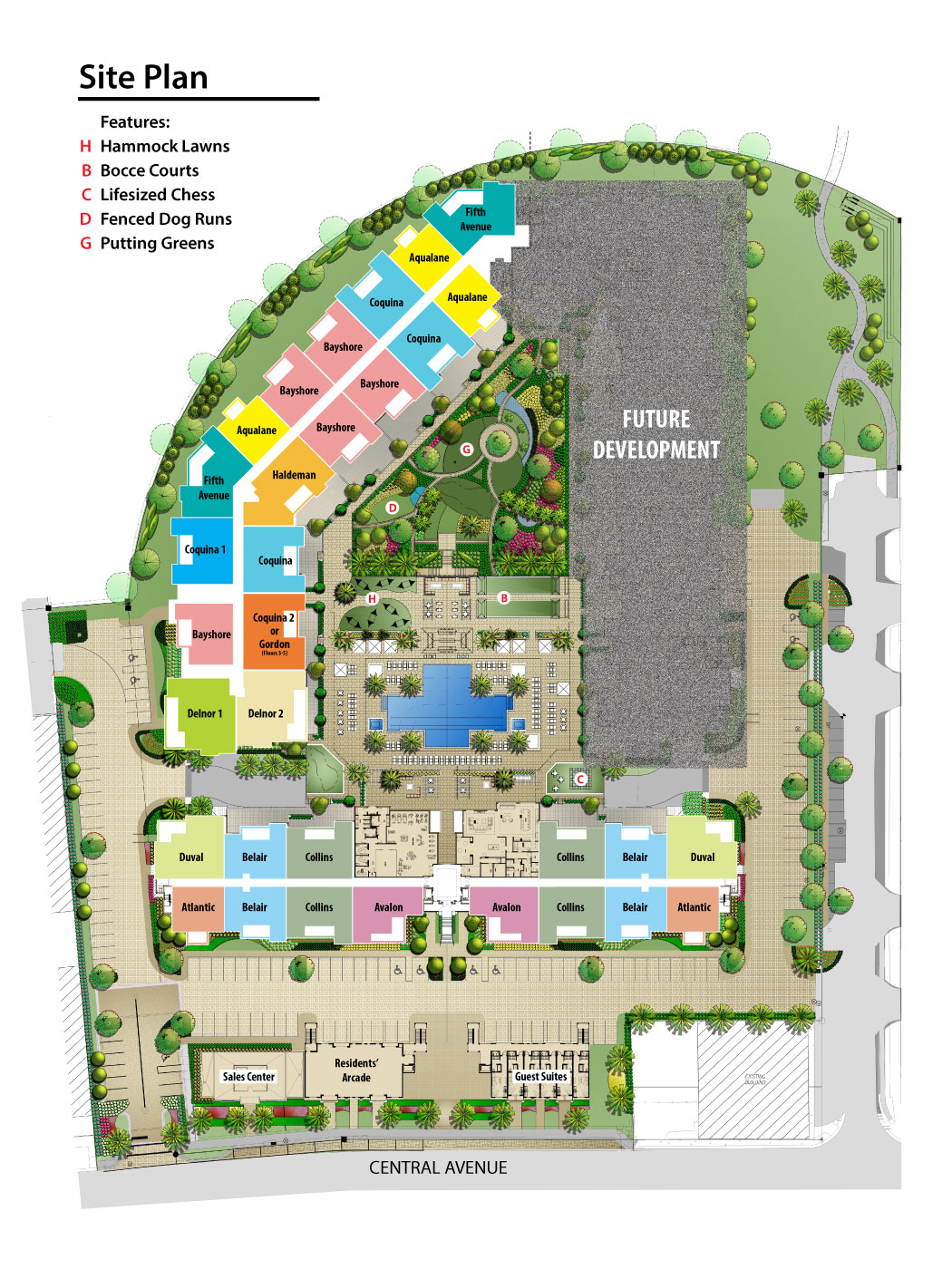 Eleven Eleven Site Plan With Building Two